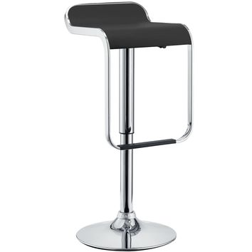 LEM Vinyl Bar Stool Black EEI-169-BLK