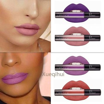 1 units of liquid lipstick long-lasting waterproof metallic lipstick matte lips make-up sexy color gold Cmaadu Nude color