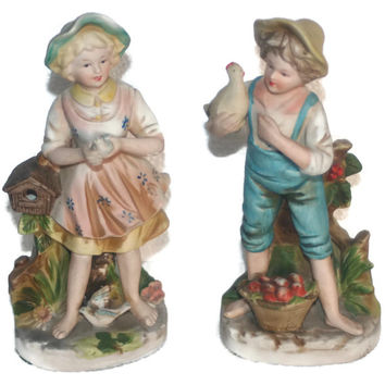 Vintage Home Interiors Homco Lady Figurines