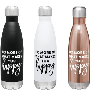 PREORDER: Do More Of What Makes You Happy Steel Bottle