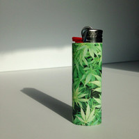 Weed leaf bic lighter / marijuana / pot / hemp