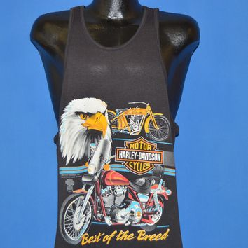 80s Harley Davidson Best Of The Breed Tank Top t-shirt Large