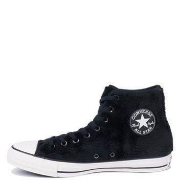 DCCK1IN converse all star chuck taylor faux fur textile lined lace up high top fuzzy sneakers