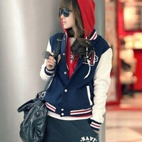 New Fashion Korean Women Long Sleeve tide Casual baseball Hoodies Coats jackets = 1931929604