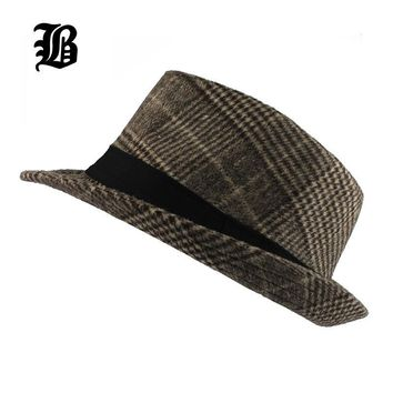 [FLB] Brand New Fashion Pure men Women's Large Brim Caps fedoras Floppy Jazz hat Vintage Popular wool caps