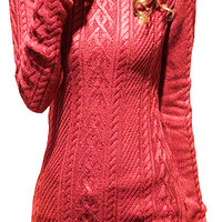 Women's Stretchable Elasticity Knit Pullover Sweater Jumper