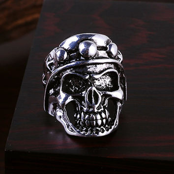 Ghost Era - Military Skull Ring - Silver