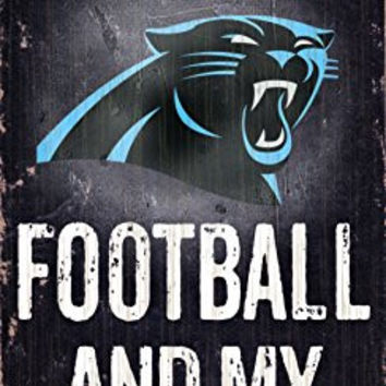 Fan Creations N0640 Carolina Panthers Football And My Dog Sign