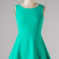 Jade Longer Style Peplum Top with Zipper
