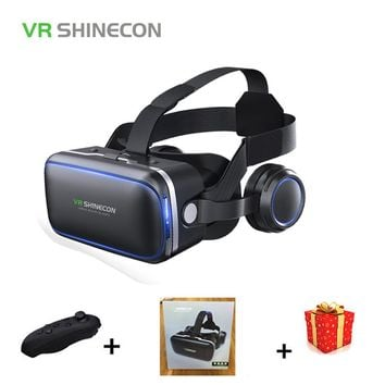 Casque Stereo Shinecon VR Box Virtual Reality Glasses 3 D 3d Goggles Headset Helmet For Smartphone Smart Phone Cardboard Google