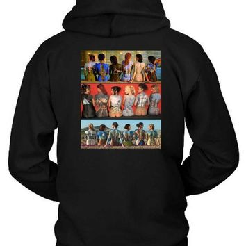 Pink Floyd Art All Of Allbums In Back Hoodie Two Sided