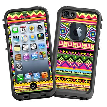 Happy Bright Tribal Skin for the iPhone 5 Lifeproof Case by skinzy.com