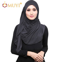 Muslim Hijabs Women Scarves Stretch Jersey Turban Gray Headscarf  Islamic Veil Modal Shawl Fashion Big Size Turkey Wrap hot sale