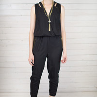 Lola Shoulder Cut Out Jumpsuit