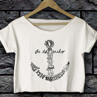mayday parade you be the anchor shirt crop top women white