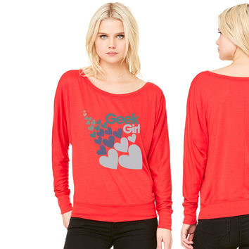 Geek Girl women's long sleeve tee
