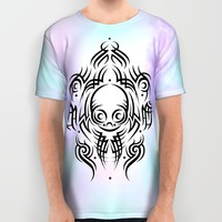 Alien Tribal Tattoo All Over Print Shirt by Chobopop
