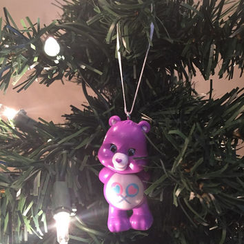 Care Bears Christmas Tree Ornament - Share Bear - re-purposed toys