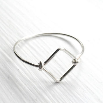 Gift-silver geometric ring,diamond geometric ring,square ring,diamond ring,stacking ring,silver rings,minimalism ring,best friend gift,boho