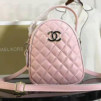 CHANEL Fashion Women Shopping Leather Bag Shoulder Bag Handbag Crossbody Satchel Pink I-AGG-CZDL