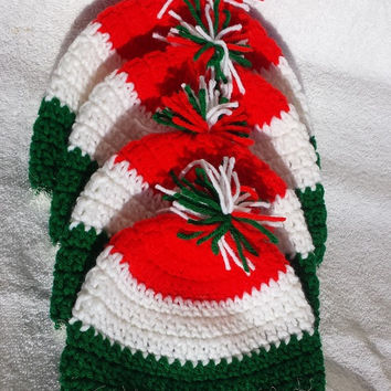 Chistmas hat - Christmas baby hat - Crocheted Christmas Hat -Christmas toddler hat