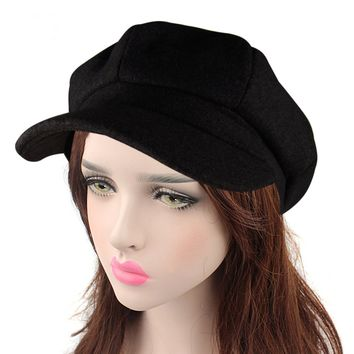 HowYouth Unisex Womens Mens Vintage 8 Panel Cabbie Beret Cap newsboy Baker Boy Flat Cap Peaked Winter Hat