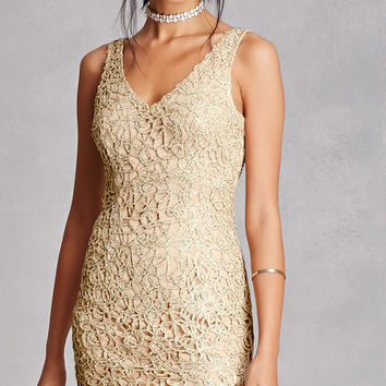 Glitter Cutout Bodycon Dress