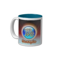 MUG CUSTOM ZODIAC SCORPIO LIGHT BLUE