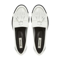 DUNE LADIES LENNON - Leather Tasselled Loafer white | Dune Shoes Online