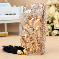 Gullei Trustmart : iPhone 3GS 4S 4G iPod Touch 4G Letter H Bow Bling Crystals Back Case [GTMSP0129] - $42.00 - Couple Gifts, Cool USB Drives, Stylish iPad/iPod/iPhone Cases & Home Decor Ideas