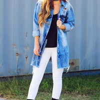 Just Go With It Jacket: Denim