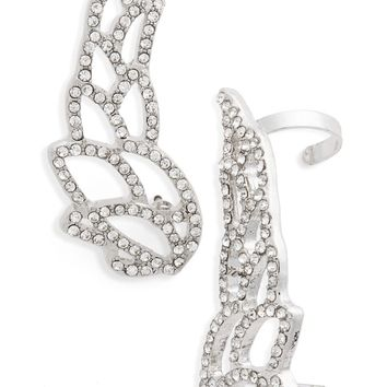 Topshop Crystal Wing Ear Climbers | Nordstrom