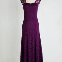 Long Cap Sleeves Maxi Honey, I'm Homecoming Dress