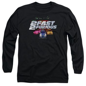 2 Fast 2 Furious - Logo Long Sleeve Adult 18/1