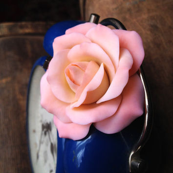 Rose flower ring, rose ring, rings for women, ring designs, polymer clay jewelry, polymer clay ring