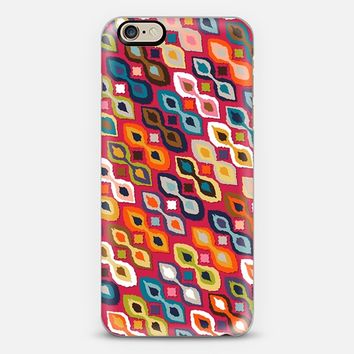 carnival ikat red iPhone 6 case by Sharon Turner | Casetify