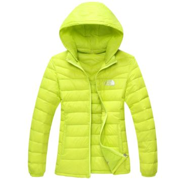The North Face Men  2017 Brand New Ultralight Down Jacket Winter Outwear Zipper Thin Coat Fluorescence green