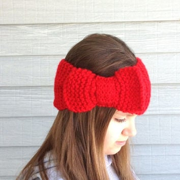 Red Headband  Ear Warmer