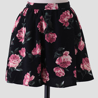 Midnight Rose Floral Skirt
