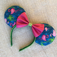 Pink Flamingo Minnie Mouse ears / Tropical / Caribbean / Disney Cruise / Animal Kingdom / Florida