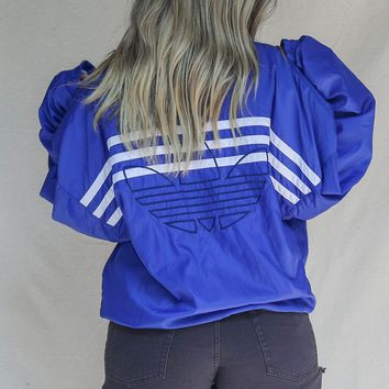 VINTAGE 90s Royal Blue Adidas Windbreaker