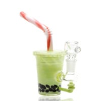 Mini Rig - Honeydew Boba Water Pipe by EMPIRE GLASSWORKS