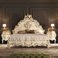 Double bed with high headboard 11208 Villa Venezia Collection by Modenese Gastone group