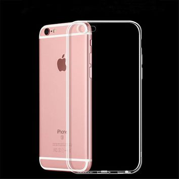 Case For iPhone X 8 7 6 6s Plus Clear Soft TPU Case Silicone Protective Sleeve Transparent Cover For iPhone 5 5S 4 4S Back Shell