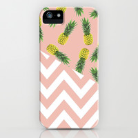 pink pineapple chevron iPhone & iPod Case by Hannah | Society6