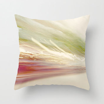 Artsy Pillow Cover - throw pillow home decor beautiful original art print lights photography effects streaks 16x16