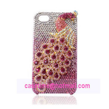 rhinestone iPhone 5 case diamond 3D peacock - also iPhone 4 4s case available
