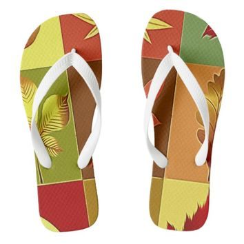 Colours in autumn flip flops