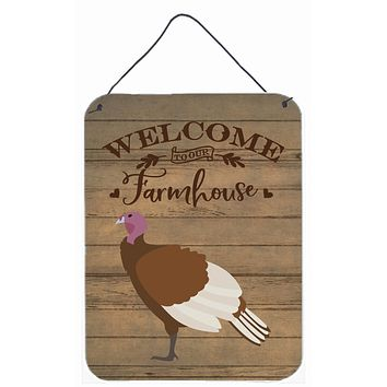 Bourbon Red Turkey Hen Welcome Wall or Door Hanging Prints CK6926DS1216