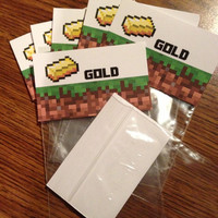 Minecraft Birthday Party Favors, Package for 6